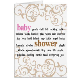Baby Shower Pink Greeting Card