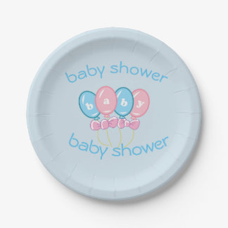 Baby shower plates 7 inch paper plate