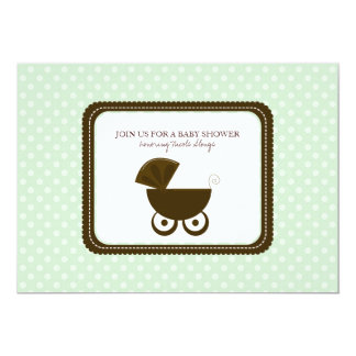 Baby Shower Polka Dots Invitations {MInt Green}