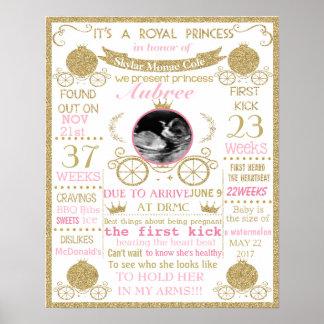Baby Shower Princess girl poster sign banner