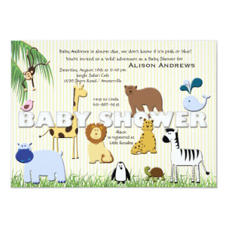 Baby Shower Safari Card