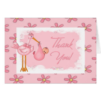Baby Shower Thank You Note Greeting Card