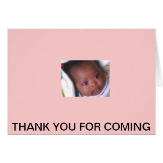 BABY SHOWER THANK YOUS GREETING CARD
