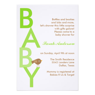 Baby Shower Today s Best Award Invitation