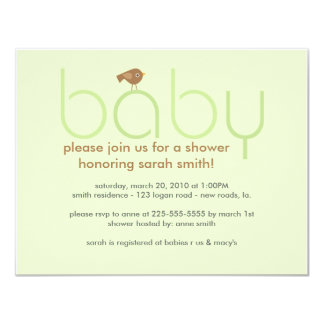 Baby Shower (Today's Best Award) 11 Cm X 14 Cm Invitation Card