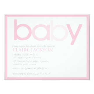 Baby Shower (Today's Best Award) 11 Cm X 14 Cm Invitation Card