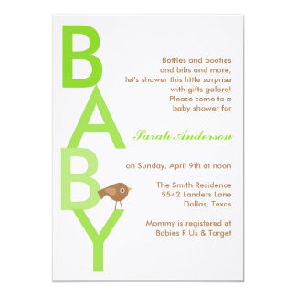 Baby Shower (Today's Best Award) 13 Cm X 18 Cm Invitation Card