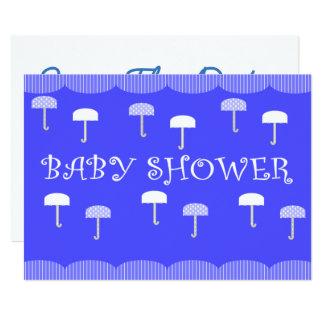 Baby Shower Umbrellas Blue Card
