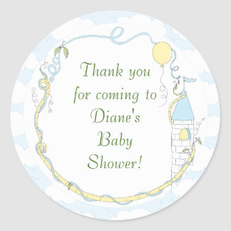 """Baby Shower Yellow/Castle Stickers 1 1/2"""" or 3"""""""