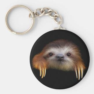 Baby Sloth Basic Round Button Key Ring