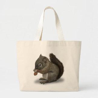 Baby Squirrel Large Tote Bag