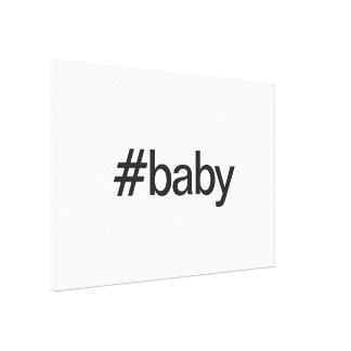 baby stretched canvas prints