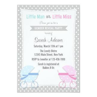 Baby Stroller Gender Reveal Party Invitation