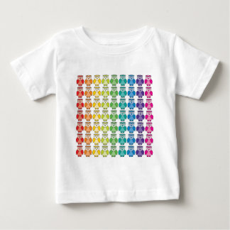 Baby T-Shirt - Cute Rainbow Owl Pattern