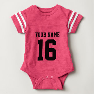 Baby Team Jersey with Name and Number Baby Bodysuit
