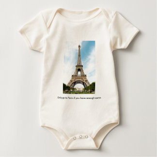 Baby tee (What crisis?) With Eiffel Tower