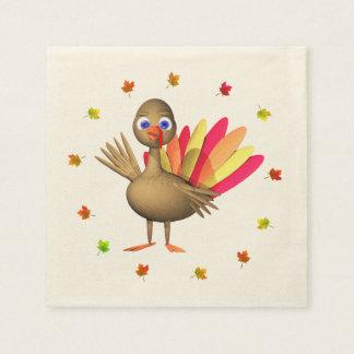 Baby Thanksgiving Turkey Disposable Serviettes
