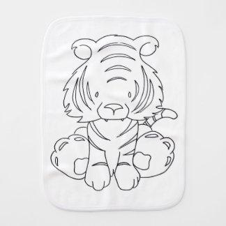 Baby Tiger - Color It Yourself Burp Cloth