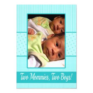 Baby Twin Boys Lesbian Moms Birth Announcement