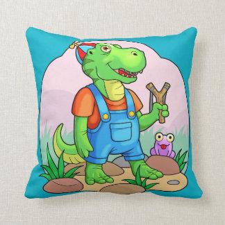 baby tyrannosaurus throw pillow