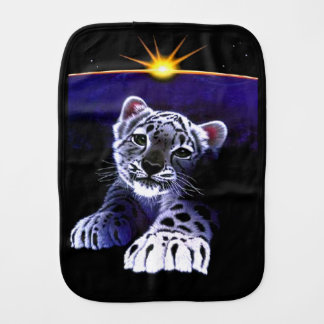 Baby White Tiger Baby Burp Cloths