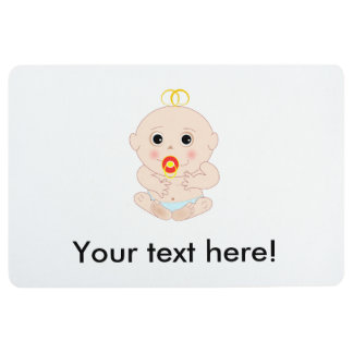 Baby with pacifier cartoon floor mat