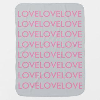 BabyLove grey/pink baby swaddle blanket <3 Buggy Blanket