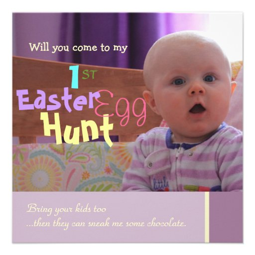 Baby's 1st East Easter Egg Hunt Party Invitation