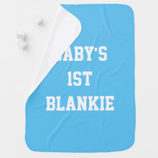 Baby's 1st (First) Blankie, Blue Blanket