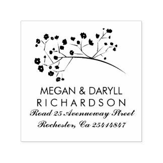 Baby's Breath Floral Branch Elegant Self-inking Stamp