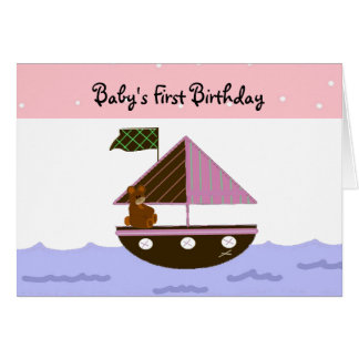 Baby's First Birthday Card