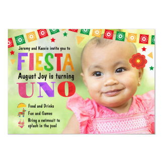 Baby's First Birthday Fiesta Party invitation