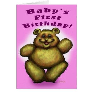 Baby's First Birthday Girl Card