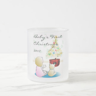 Baby's First Christmas 2012 Frosted Glass Coffee Mug