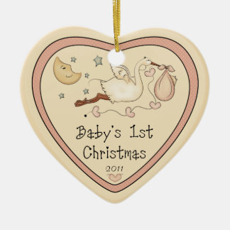Baby's First Christmas Heart Ornament