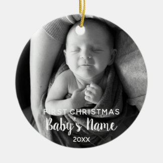Baby's First Christmas - Modern Calligraphy Christmas Ornament