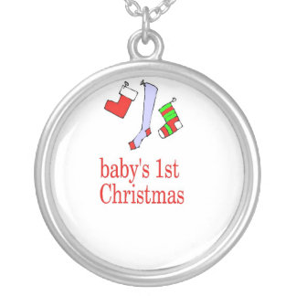 babys first christmas necklace