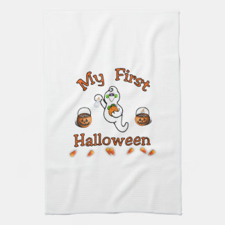 Baby's First Halloween Tea Towel