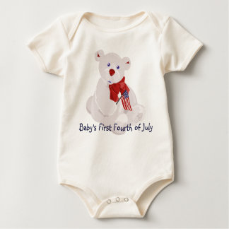 Baby's First July 4th Baby Bodysuit