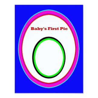 Baby's First Picture The MUSEUM Zazzle Gifts 3 4.25x5.5 Paper Invitation Card