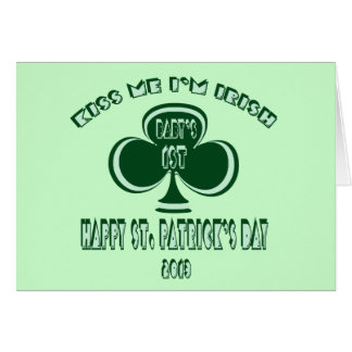 Baby's First St. Patrick's Day Card 2013