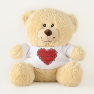 Baby's First Valentine Personalised Teddy Bear