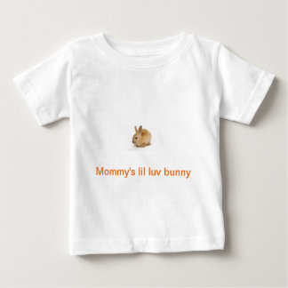 Baby's Short Sleeve Shirt With Bunny Print