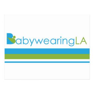 BabywearingLA Stripe Logo Postcard
