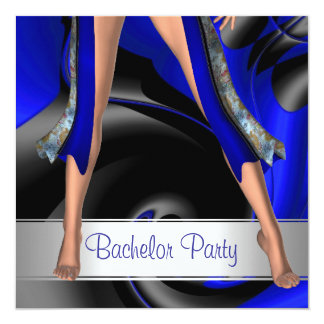 Bachelor Party  Abstract Blue Girl Legs Card