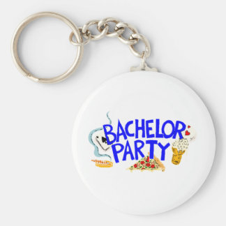 Bachelor Party Basic Round Button Key Ring