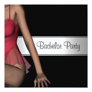 Bachelor Party Black Silver Girl 2 Card