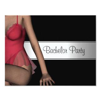 Bachelor Party Black Silver Girl Card