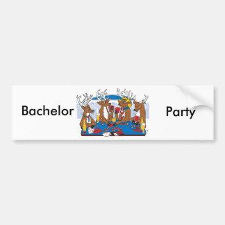 Bachelor Party Poker in Vegas Bumper Sticker
