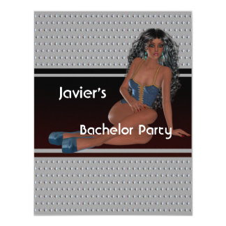 Bachelor Party S...exy Girl Silver Studs Card